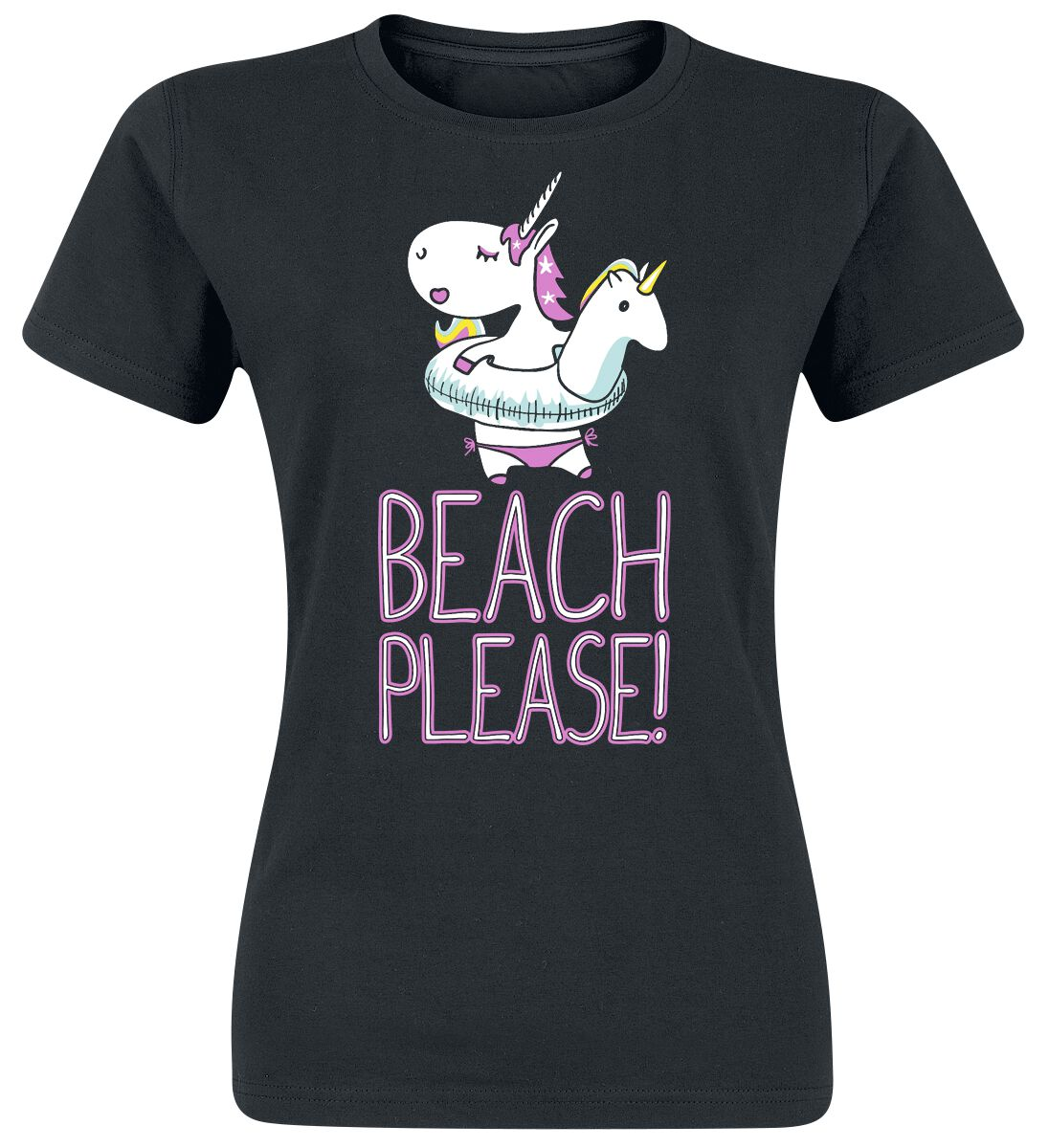 Beach Please Koszulka damska czarny