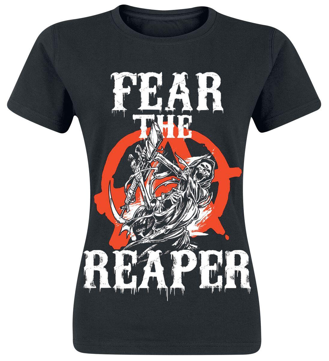 Merch dla Fanów - Koszulki - Koszulka damska Sons Of Anarchy Fear The Reaper Koszulka damska czarny - 359374