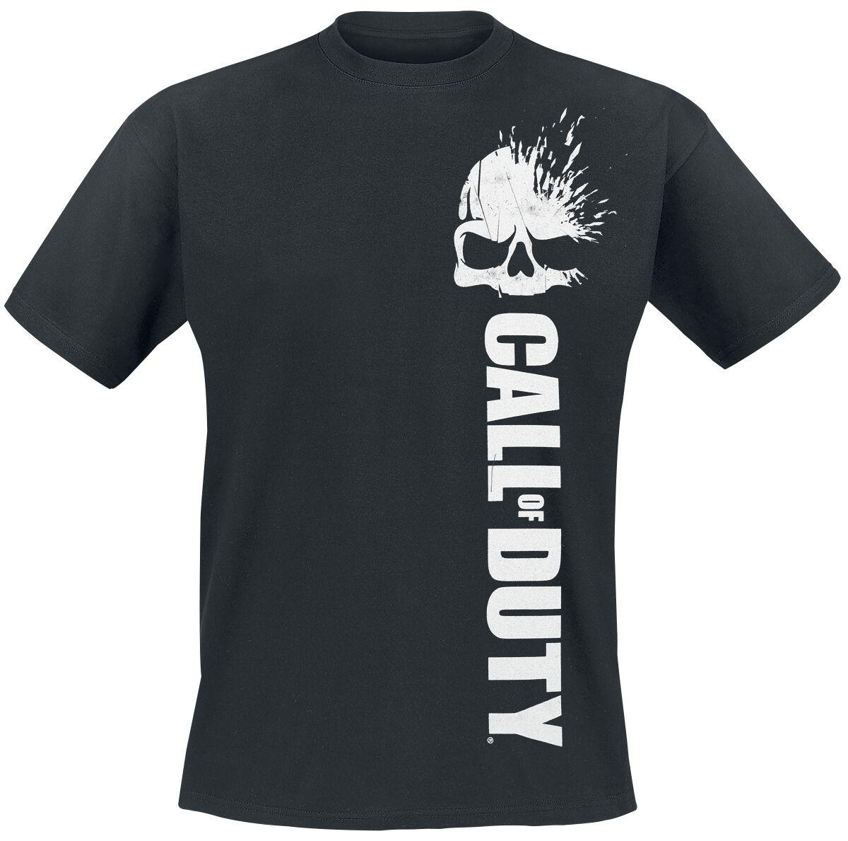 Merch dla Fanów - Koszulki - T-Shirt Call Of Duty Skull Vertical Logo T-Shirt czarny - 359389