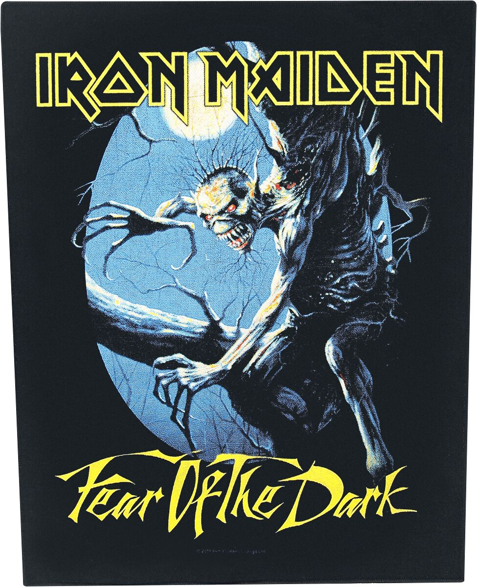 Image of   Iron Maiden Fear Of The Dark Rygmærke multifarvet