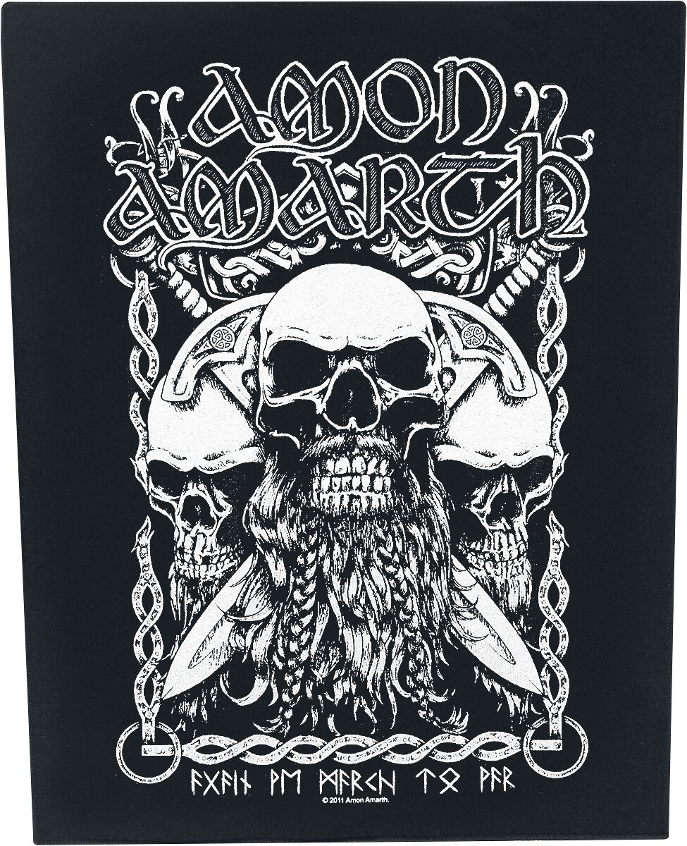 Image of   Amon Amarth Bearded Skulls Rygmærke multifarvet