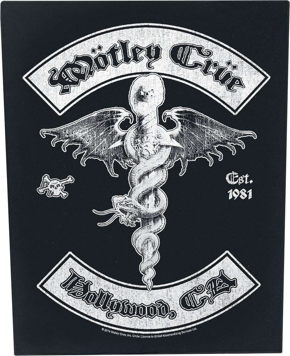 Zespoły - Naszywki - Naszywka na plecy Mötley Crüe Hollywood Naszywka na plecy wielokolorowy - 359528