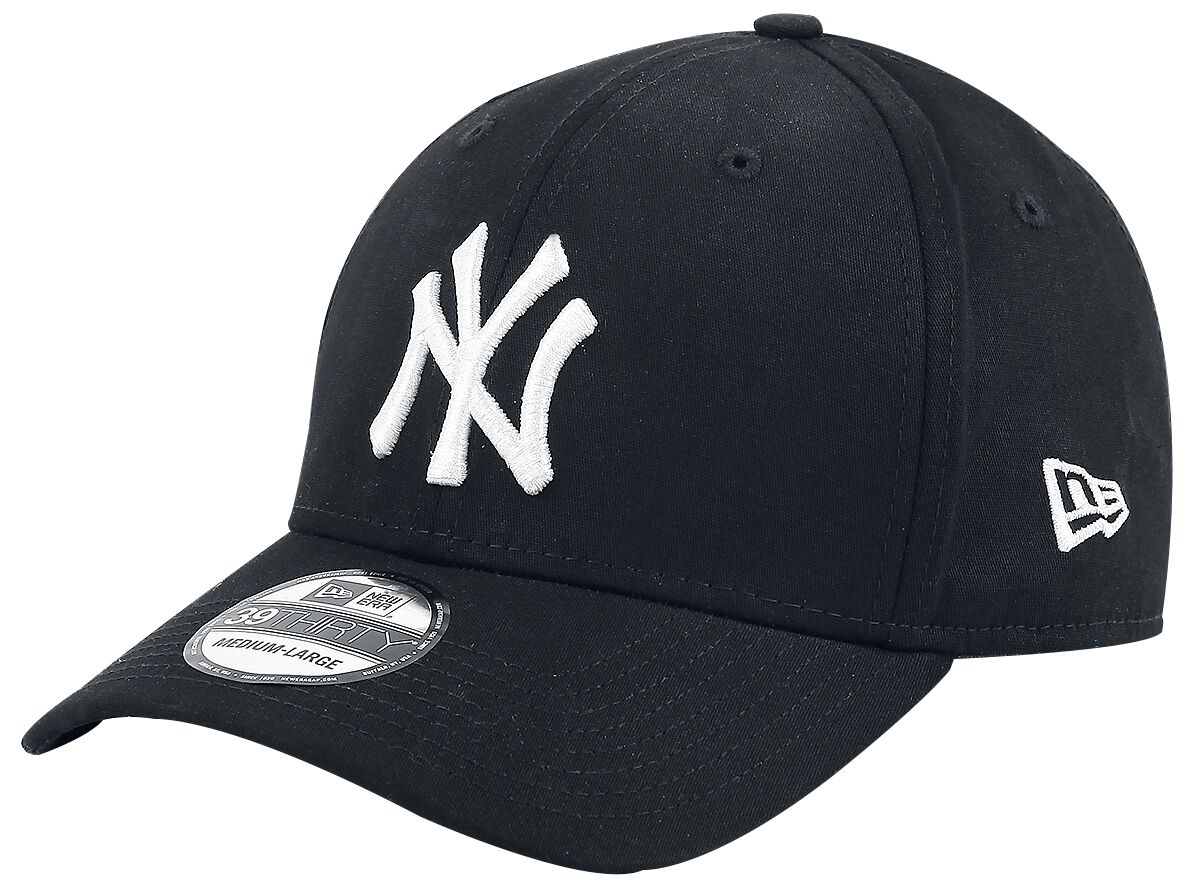 Basics - Czapki i Kapelusze - Czapka New Era New Era 39Thirty Basic MLB New York Yankees Czapka New Era czarny/biały - 359581