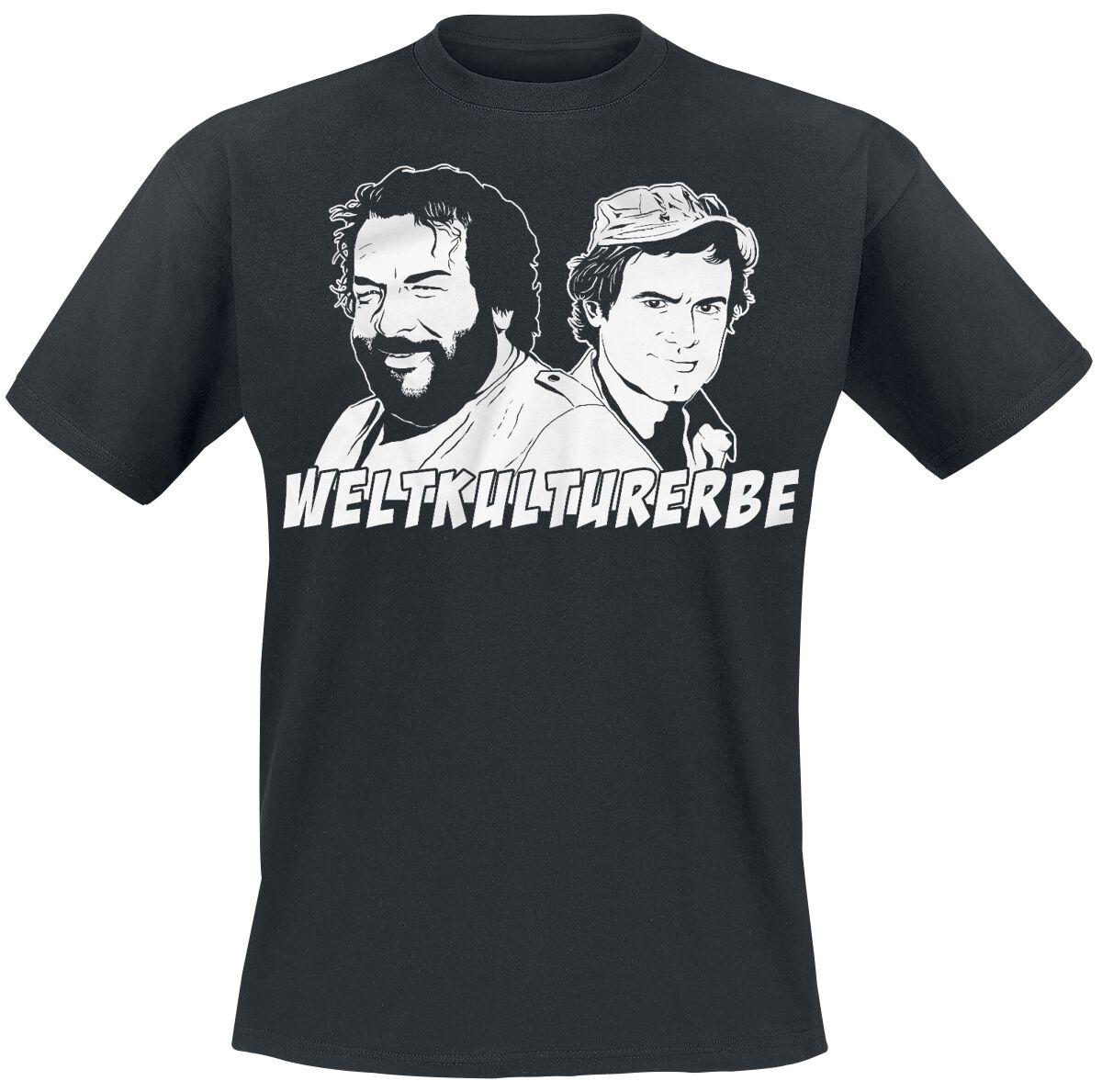 Merch dla Fanów - Koszulki - T-Shirt Bud Spencer Weltkulturerbe T-Shirt czarny - 359674