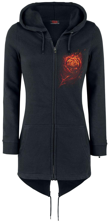 Image of   Spiral Burnt Rose Girlie hættejakke sort