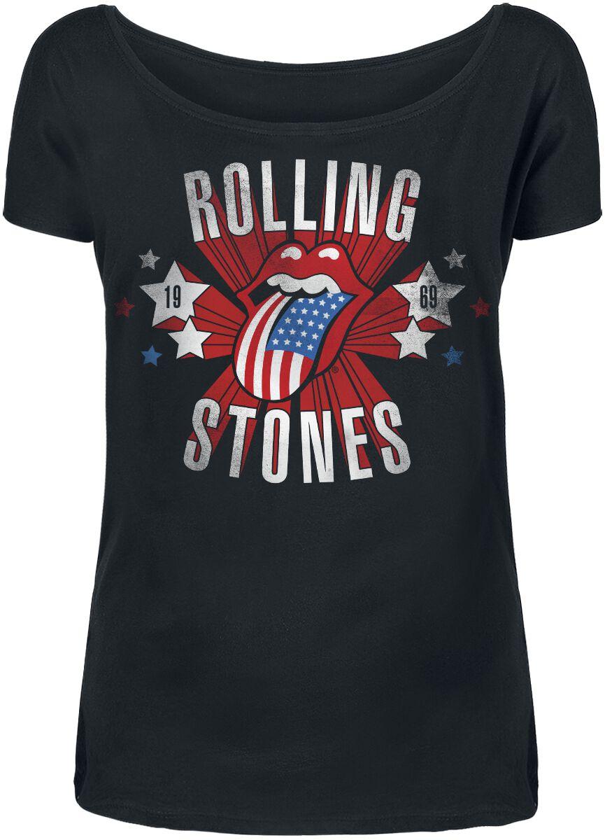 Image of   The Rolling Stones Spangled Tongue Girlie trøje sort