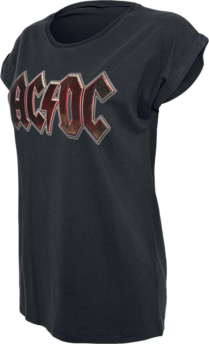 Image of   AC/DC Voltage Logo Girlie trøje sort