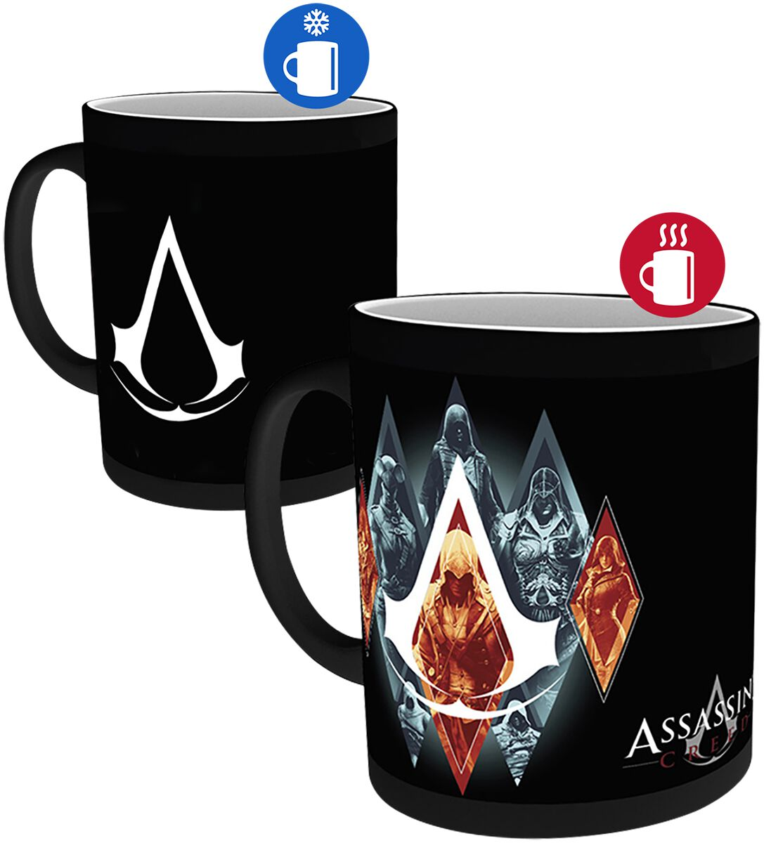 Image of   Assassin's Creed Legacy - Motivskiftende krus Krus multifarvet