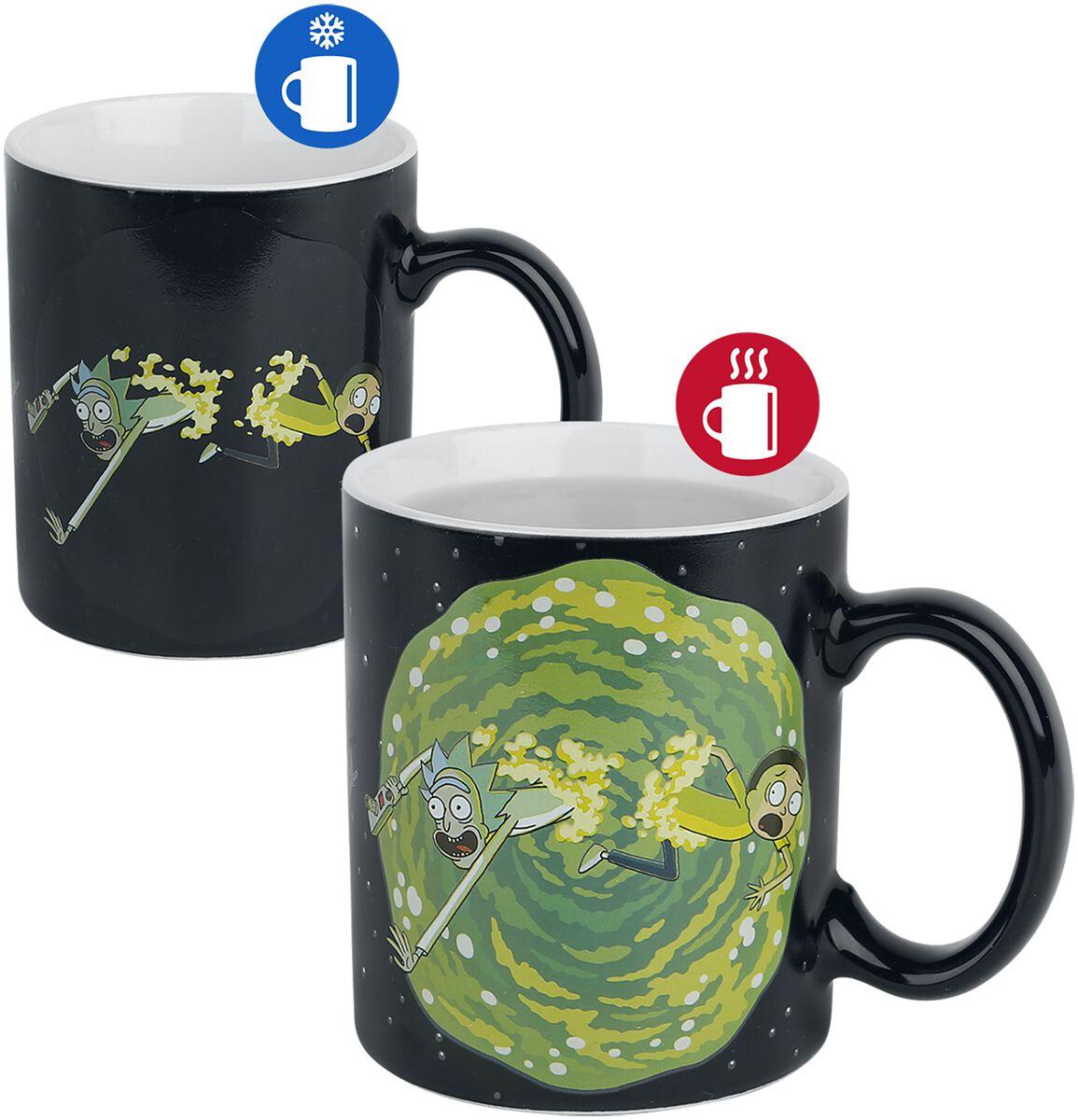 Image of   Rick And Morty Portal - skiftende motiv Krus multifarvet