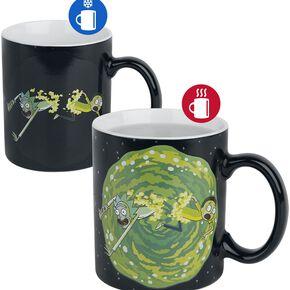 Rick & Morty Portal - Heat-Change Mug Mug multicolore