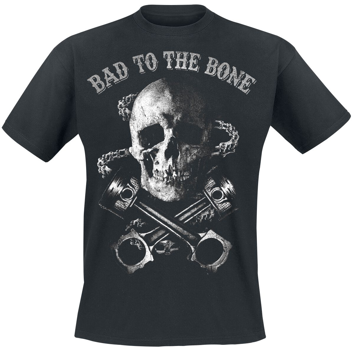 Motyw - Koszulki - T-Shirt Bad To The Bone T-Shirt czarny - 359825
