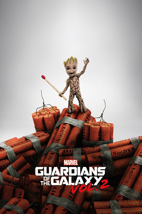 Image of   Guardians Of The Galaxy Vol.2 - Groot Dynamite Plakat multifarvet