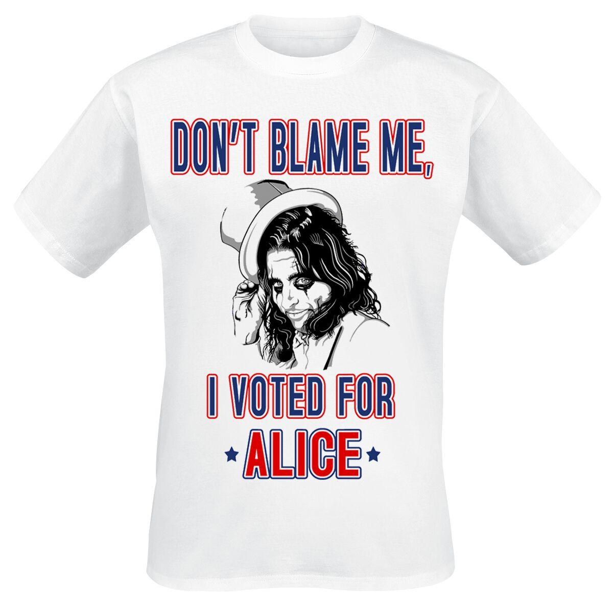 Zespoły - Koszulki - T-Shirt Alice Cooper Don't Blame Me T-Shirt biały - 359876