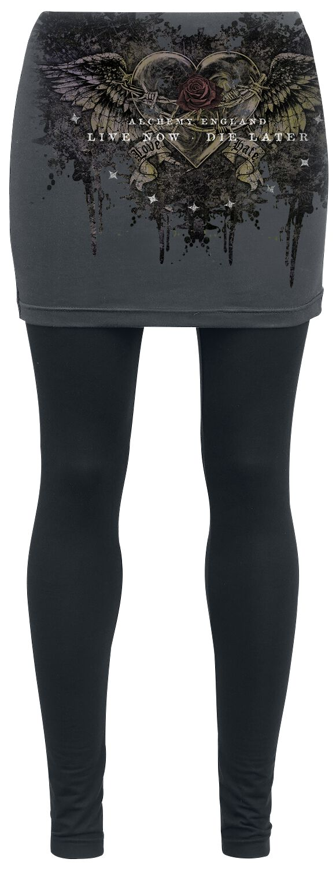 Image of   Alchemy England Black Romance Leggings sort-grå