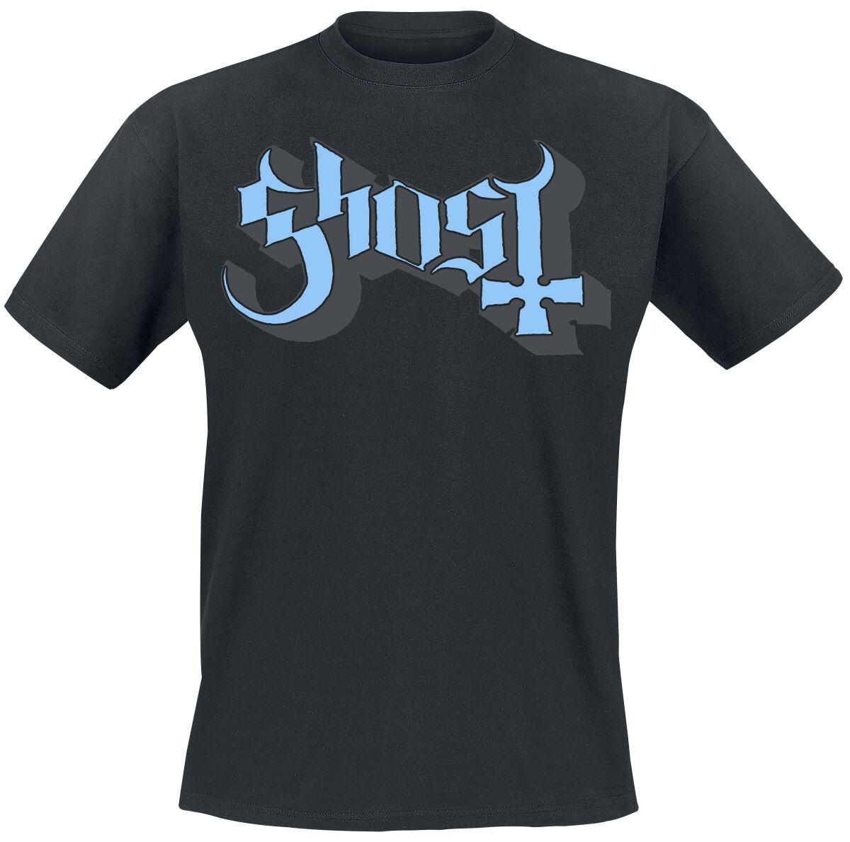 Zespoły - Koszulki - T-Shirt Ghost Blue Logo T-Shirt czarny - 359905