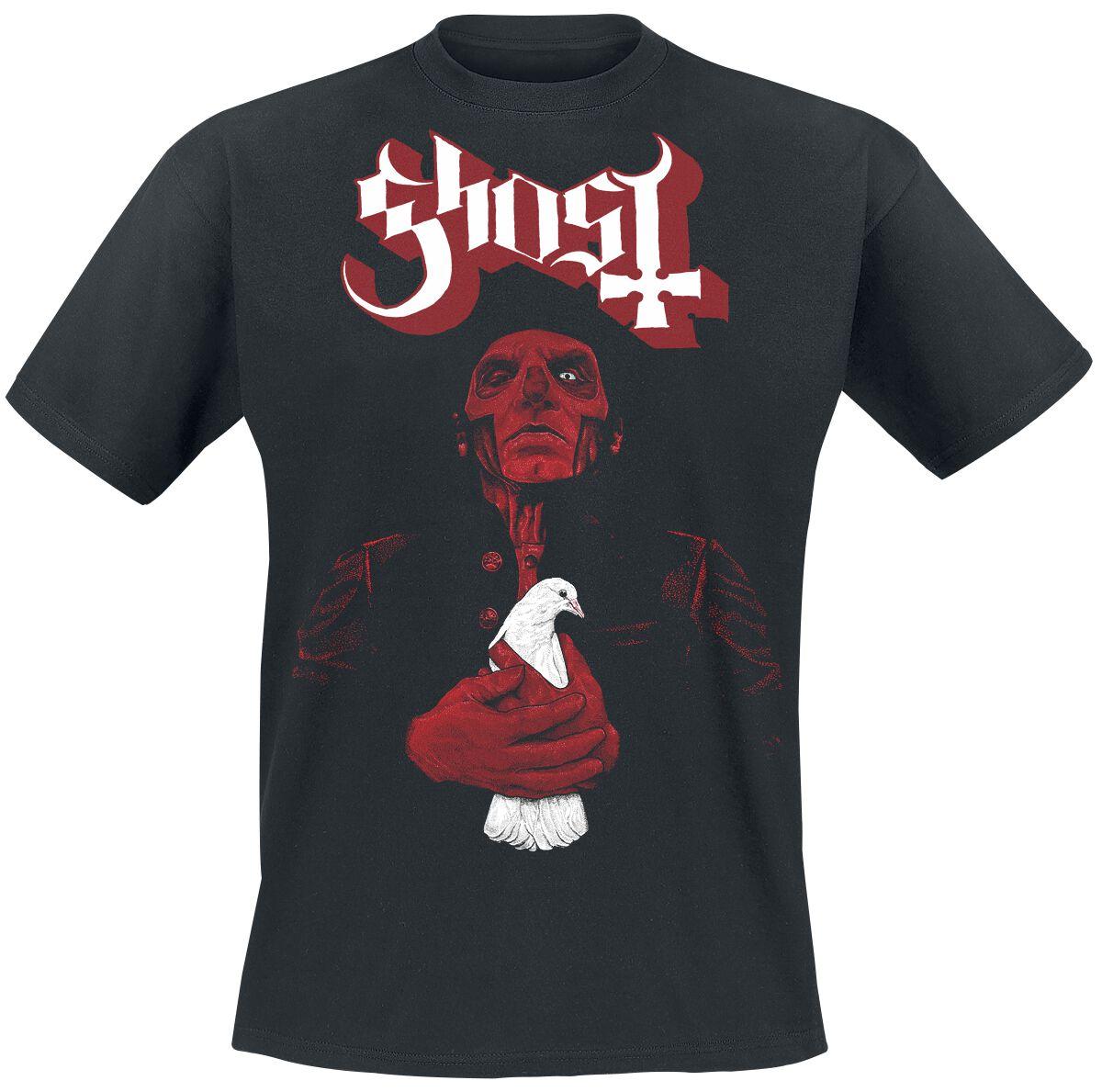 Zespoły - Koszulki - T-Shirt Ghost Dove Red Logo T-Shirt czarny - 359911