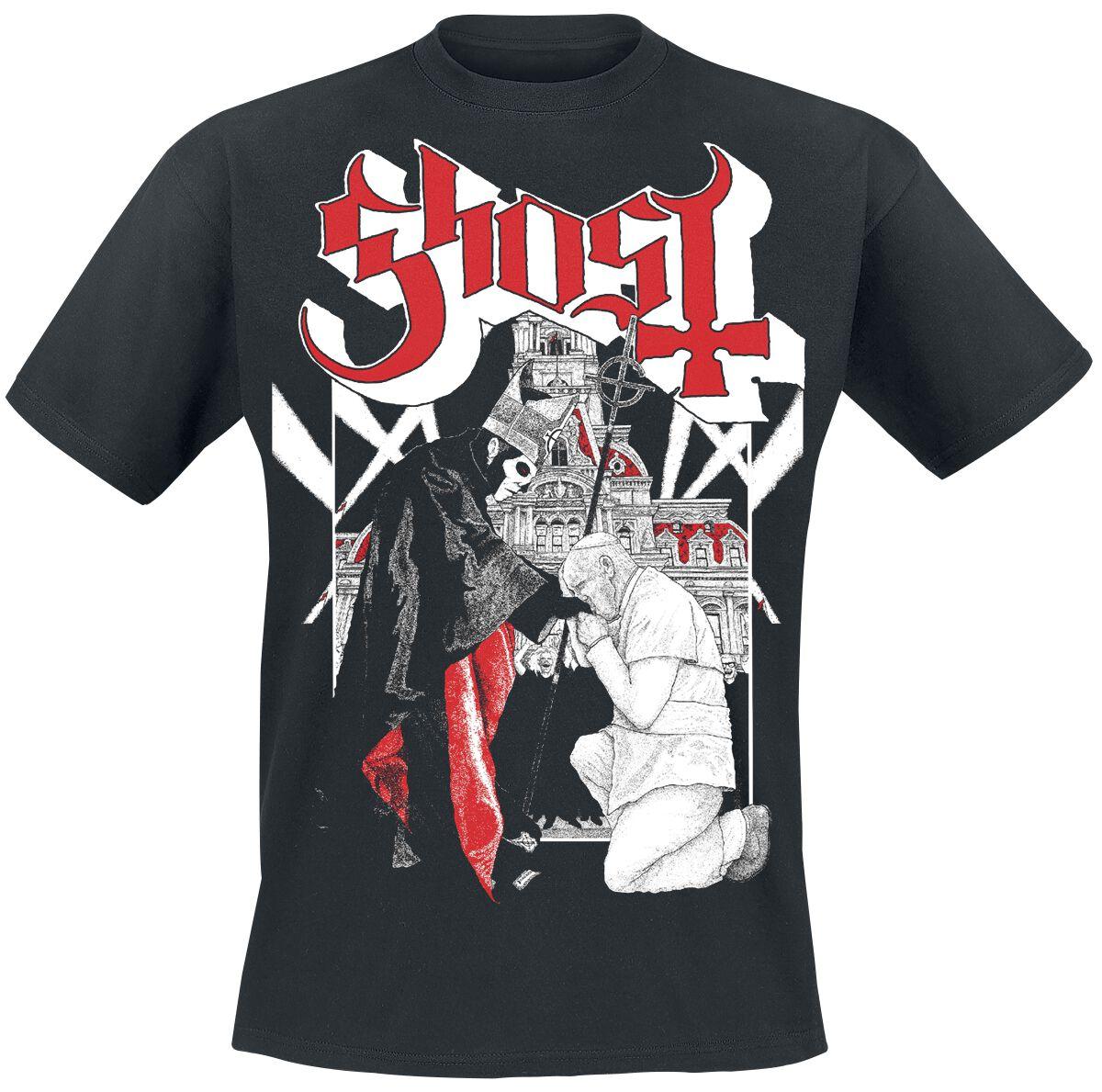 Zespoły - Koszulki - T-Shirt Ghost Pope T-Shirt czarny - 359912