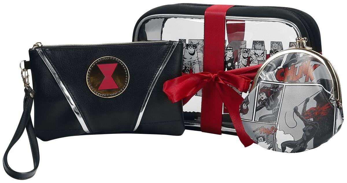 Merch dla Fanów - Torby i Plecaki - Kosmetyczka Black Widow Geschenk Set Kosmetyczka czarny/czerwony/biały - 359921