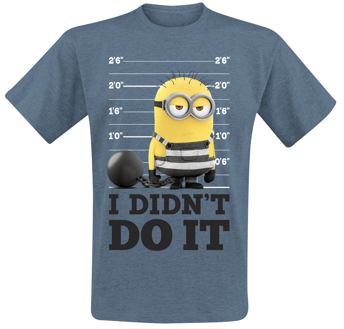 Image of   Minions I Didn't Do It T-Shirt blandet blå