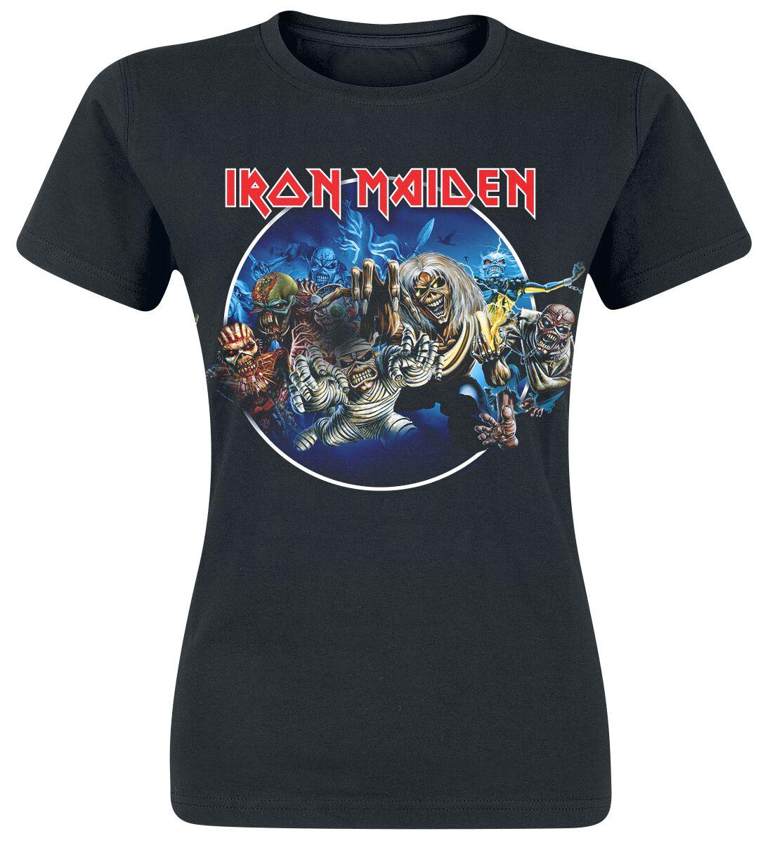 Iron Maiden Wasted Years Circle Koszulka damska czarny