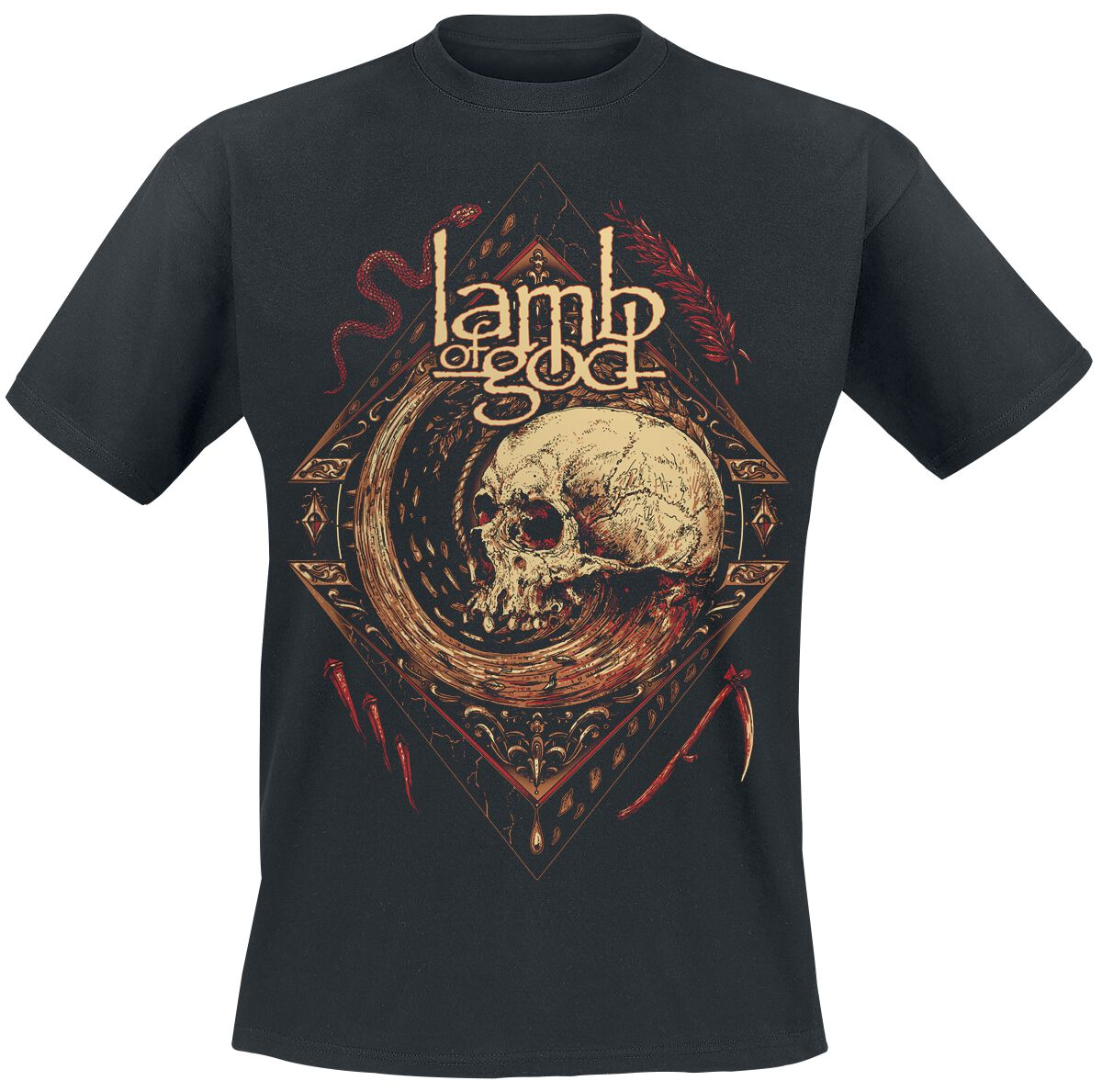 Zespoły - Koszulki - T-Shirt Lamb Of God Mori Wheel T-Shirt czarny - 359949