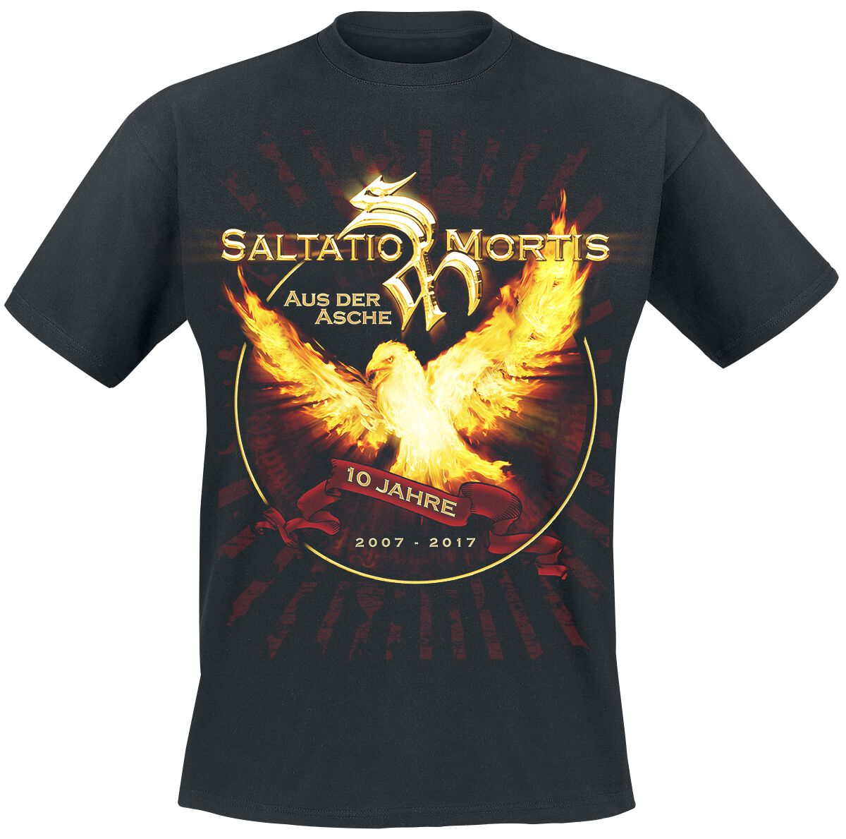 Zespoły - Koszulki - T-Shirt Saltatio Mortis Aus der Asche T-Shirt czarny - 359969