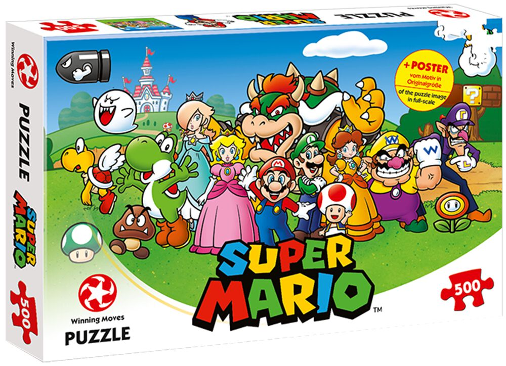 Image of   Super Mario Mario And Friends (500 brikker) Puslespil & samlesæt standard