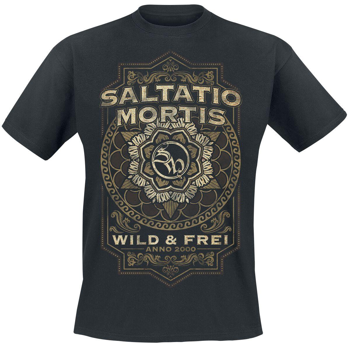 Zespoły - Koszulki - T-Shirt Saltatio Mortis Flourish Mandala T-Shirt czarny - 359978