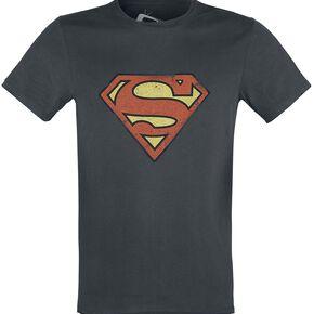 Superman Logo Vintage T-shirt anthracite