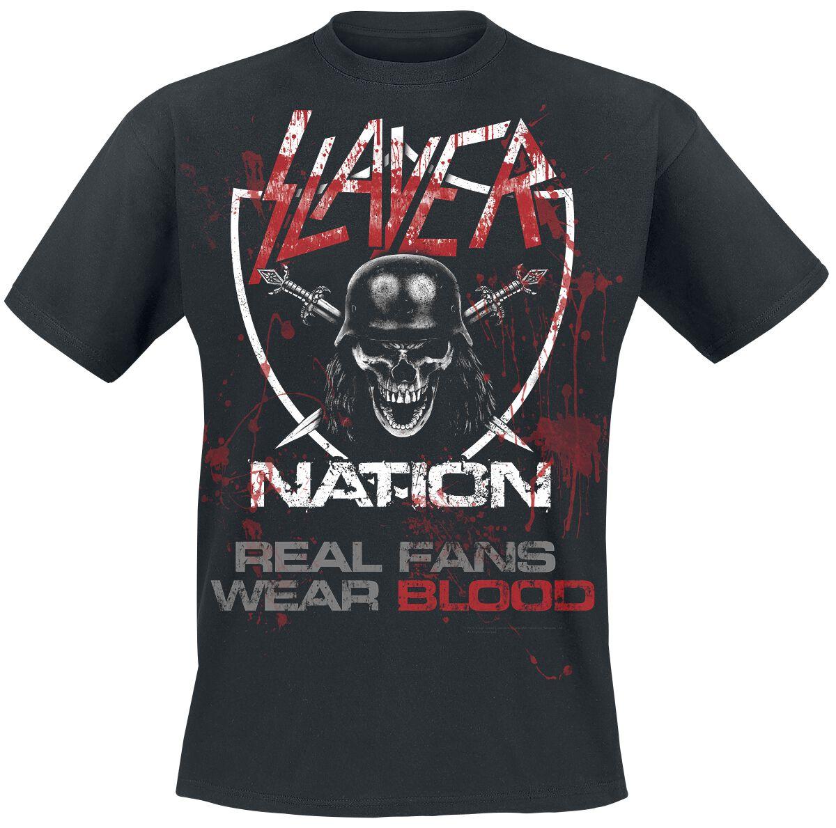 Image of   Slayer Real Men Wear Blood T-Shirt sort