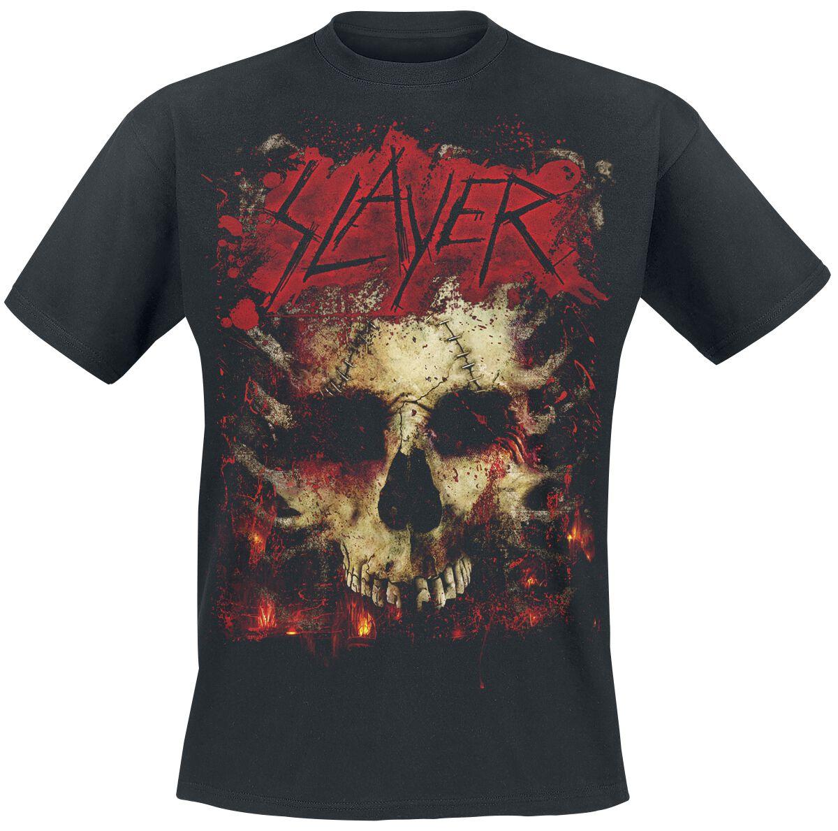Image of   Slayer Ribs Skull T-Shirt sort