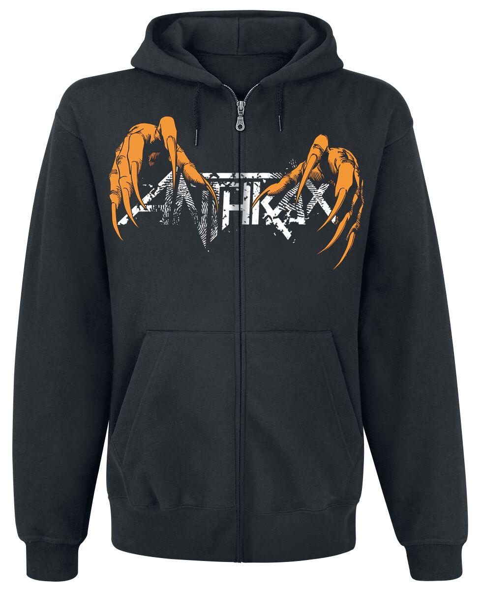 Zespoły - Bluzy z kapturem - Bluza z kapturem rozpinana Anthrax Thrash Metal Claw Bluza z kapturem rozpinana czarny - 360121