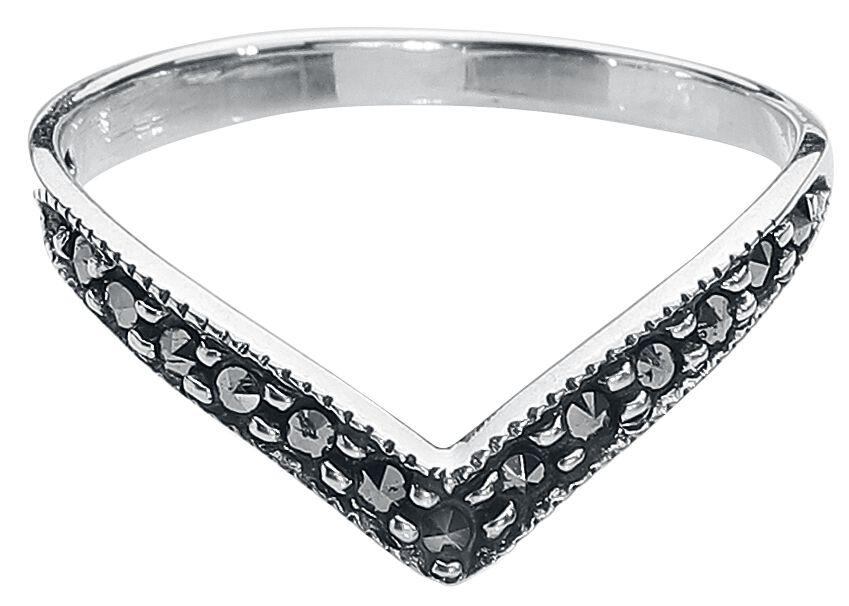 Basics - Pierścienie - Pierścień Black Marcasite Pierścień srebrny - 360141