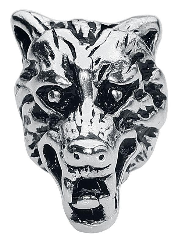 Basics - Ozdoby do włosów - Koraliki do włosów Wolf's Head Koraliki do włosów srebrny - 360184