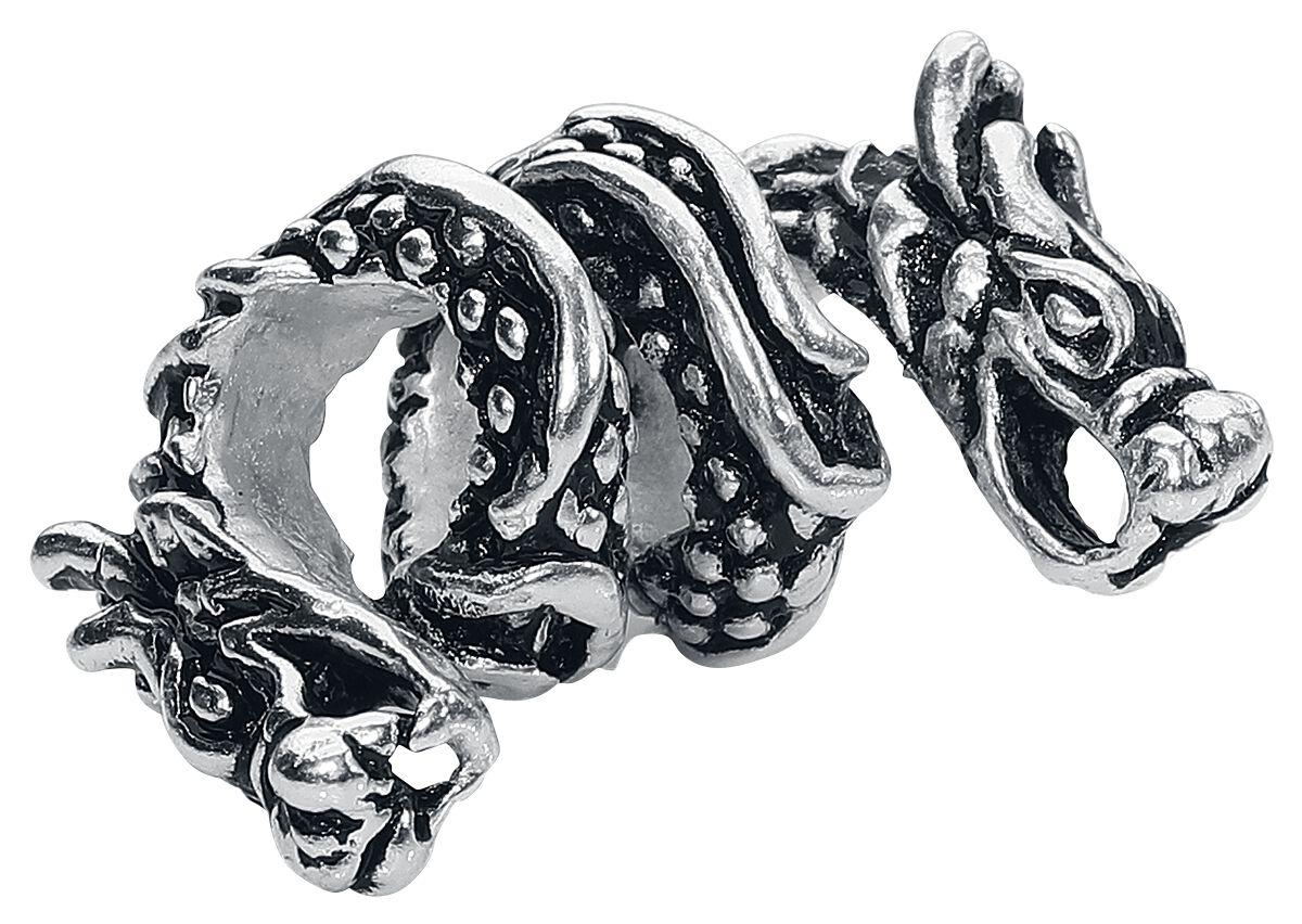 Basics - Ozdoby do włosów - Koraliki do włosów Dragon Koraliki do włosów srebrny - 360196