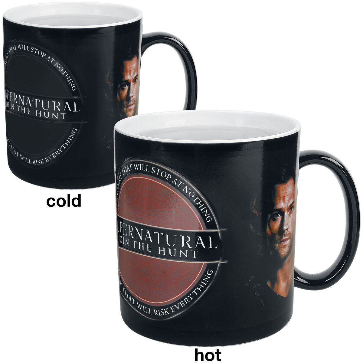 Image of   Supernatural Sam and Dean - med termoeffekt Krus multifarvet