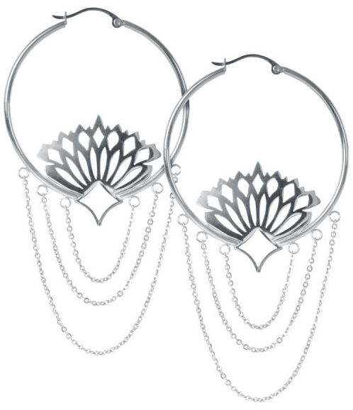Ohrringe für Frauen - Wildcat Hoops Peacock Ohrring Set silberfarben  - Onlineshop EMP