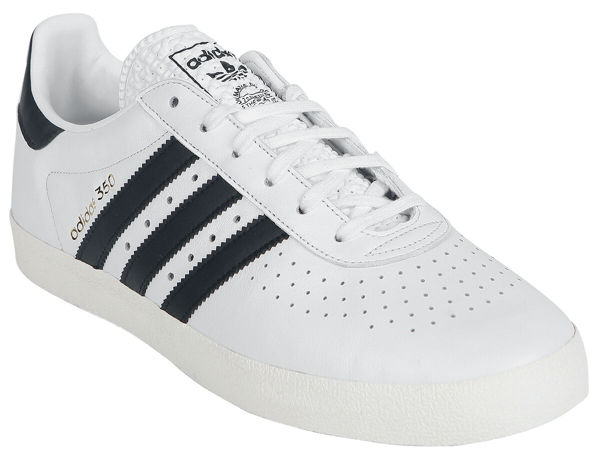 Image of   Adidas 350 Leather Basics Sneakers hvid-sort