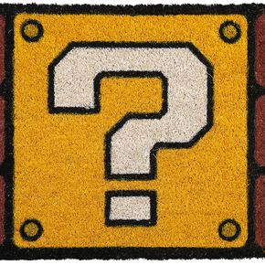Super Mario (Question Mark Block) Doormat