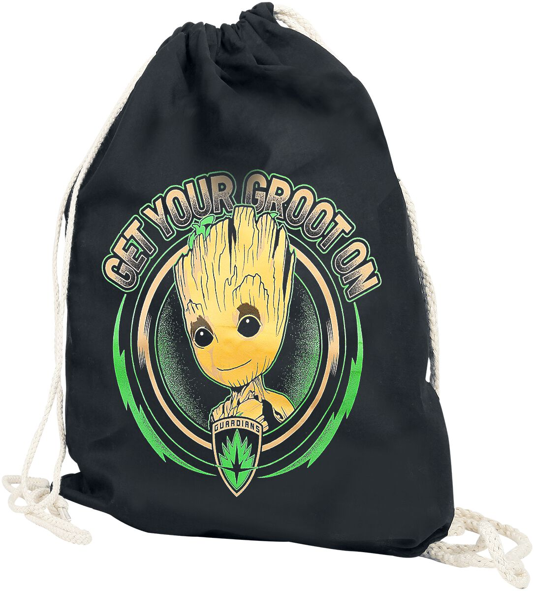 Image of   Guardians Of The Galaxy Get Your Groot On Gymnastiktaske sort