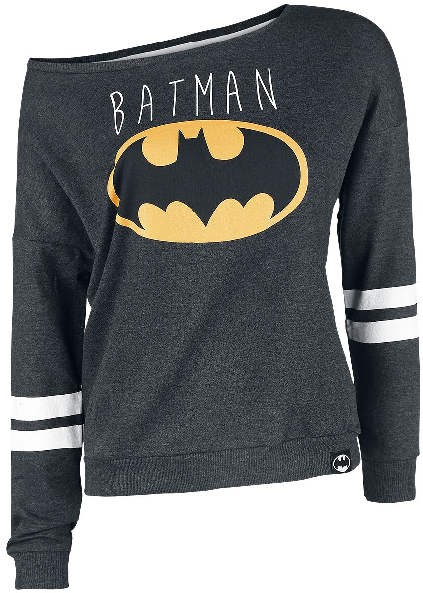 Image of   Batman Logo Girlie sweatshirt Antracitmix