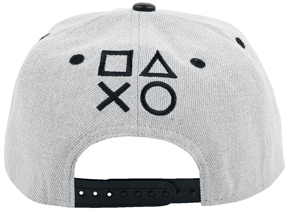 Playstation Logo Snapback Cap grå-sort