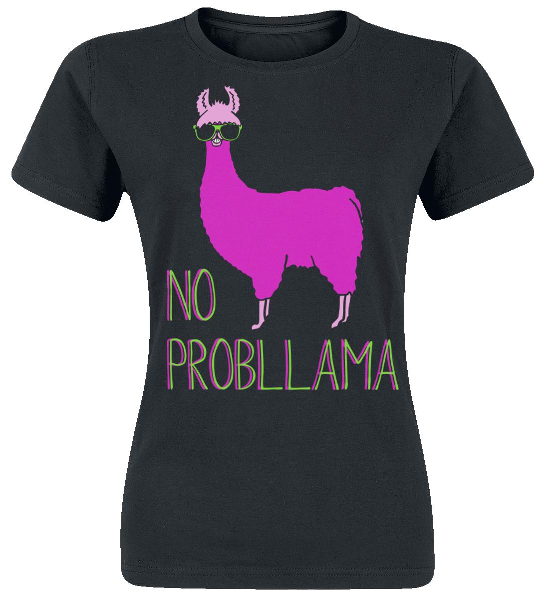 Lama No Probllama Koszulka damska czarny
