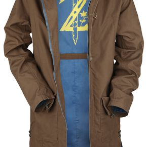 The Legend Of Zelda Musterbrand - Breath Of The Wild - Link Manteau marron