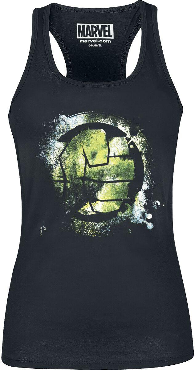 Merch dla Fanów - Topy - Top damski Hulk Fist Symbol Top damski czarny - 360636