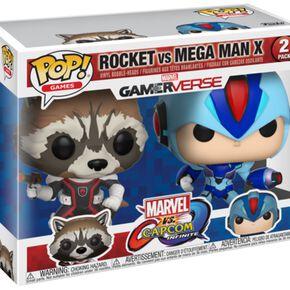 Figurines Pop! Rocket Vs MegaMan - Marvel Vs Capcom (Lot de 2)