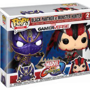 Figurines Pop! Black Panther vs Monster Hunter Marvel Vs Capcom (Lot de 2)