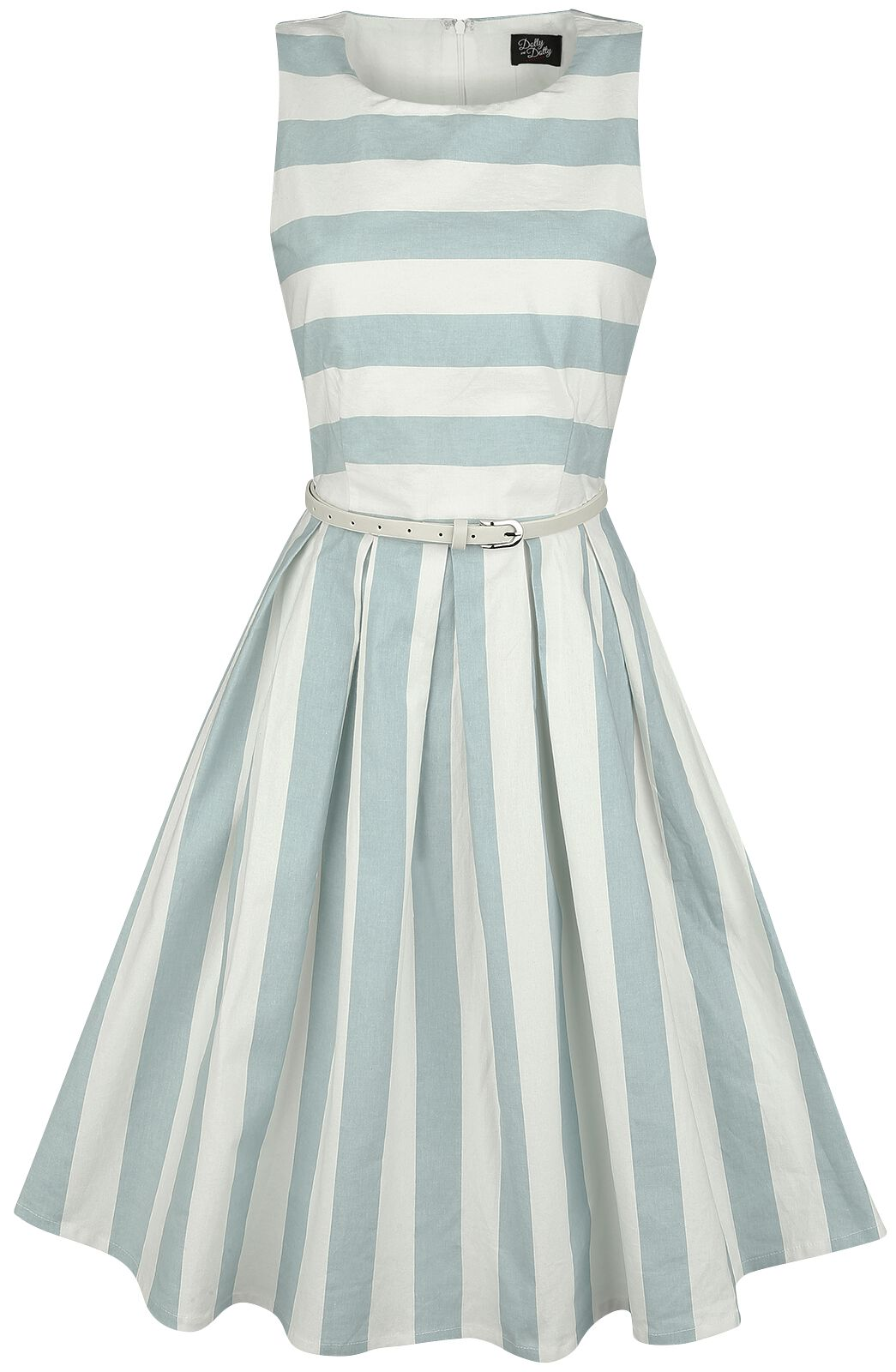 Marki - Sukienki - Sukienka Dolly and Dotty Pale Blue Stripe Dress Sukienka miętowy/biały - 360760