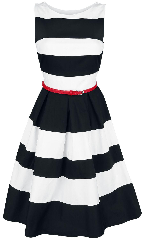 Marki - Sukienki - Sukienka Dolly and Dotty Striped Swing Dress Sukienka czarny/biały - 360764