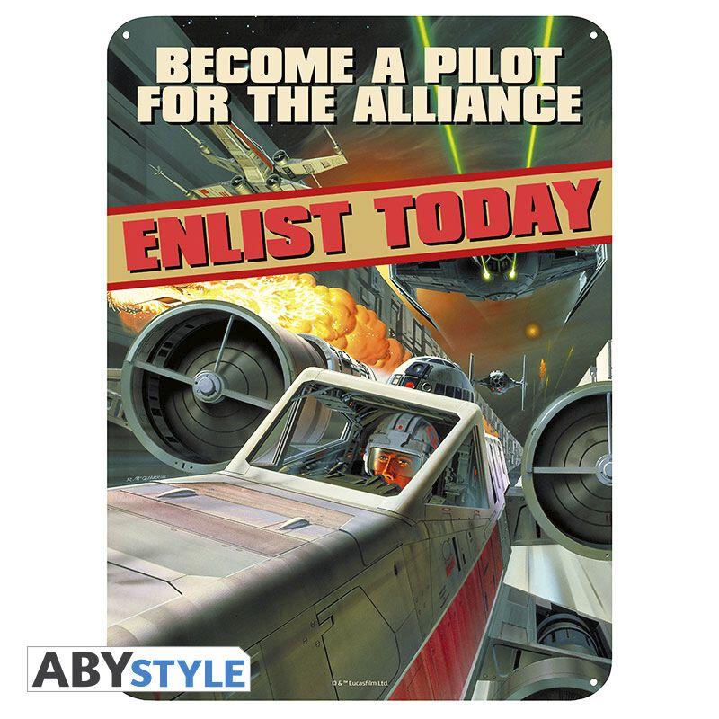 Image of   Star Wars Become a Pilot Tinskilt multifarvet